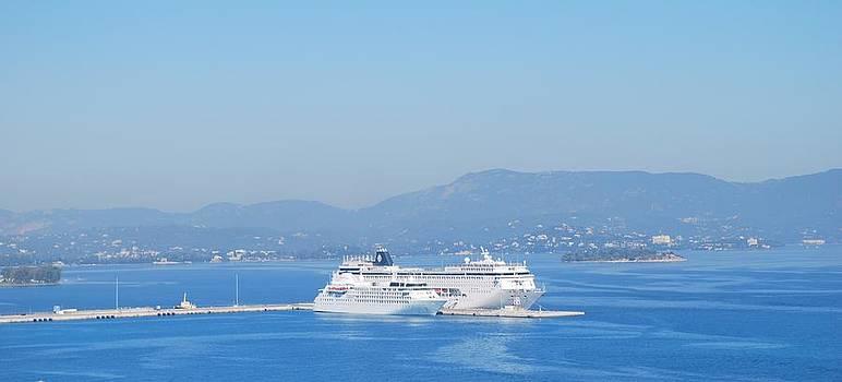 Ocean Liners in Corfu by George Katechis