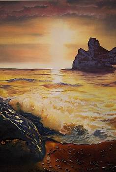 Ocean on Fire by Terry Godinez
