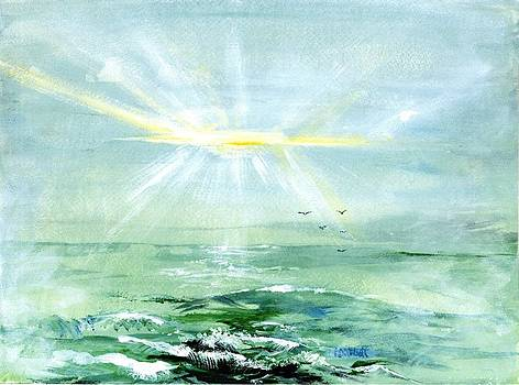 Ocean Sunrise by Phyllis Abbott