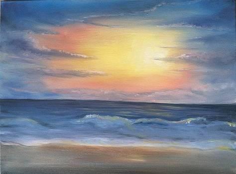 Ocean Sunset by Genevieve Elizabeth