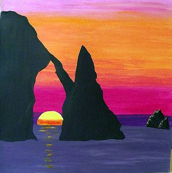 Ocean Sunset by Sandy Wager