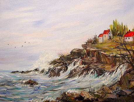 Ocean View From The Cliff by Dorothy Maier