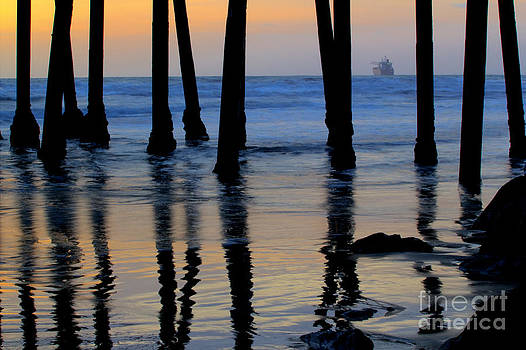 Oceanside California Pier at Sunset by Christy Woodrow