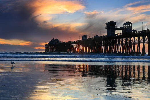 Oceanside Pier Winter Sunset by Scott Cunningham