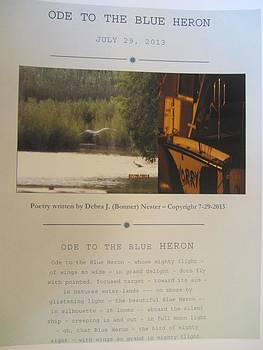 Ode to the Blue Heron by Debbie Nester