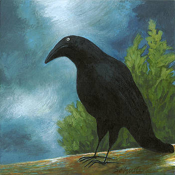 Ode to the philosophical Crow by Bonnie  Schulte