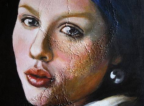 Ode to Vermeer-Girl with a Pearl Earing by Ted Castor