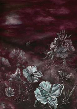 Oenotheras whispers of the night by Elke Hensel