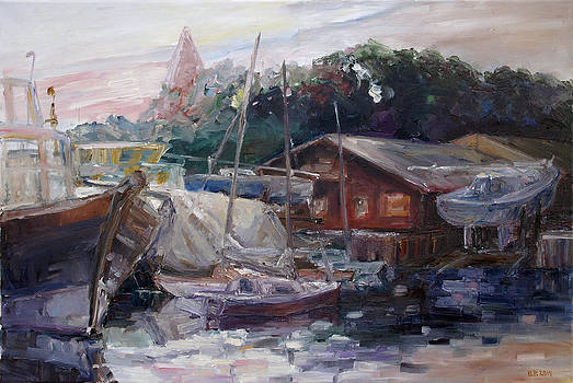 Off Hours At The Ship Yard In Kirchdorf Island Poel by Barbara Pommerenke