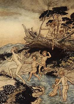 Arthur Rackham - Oh What A Good Time Was That