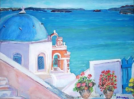 Oia in Santorini by Teresa Dominici