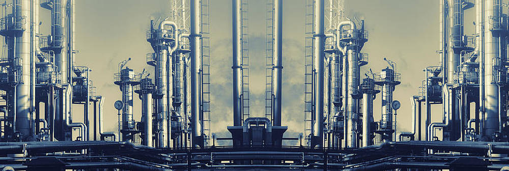 Oil And Gas Industry Panoramic by Christian Lagereek