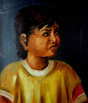 Oil portrait by Hihani Gautam