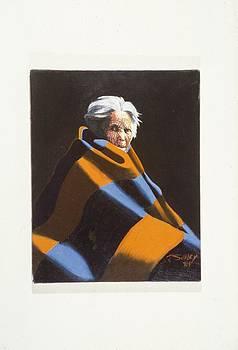 Oil portrait study by John Sibley