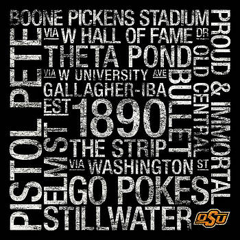 Oklahoma State College Colors Subway Art by Replay Photos