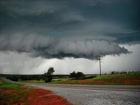 Oklahoma Wall Cloud by Ed Sweeney
