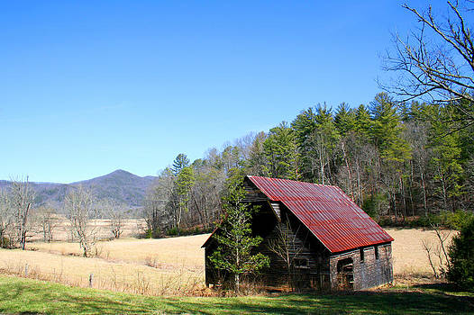 Old Barn in Smoky Mountains by Sarah Yost