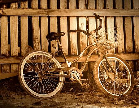 Old Bicycle forgotten by Kerry Hauser
