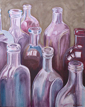 Old Bottles by Kathy Weidner