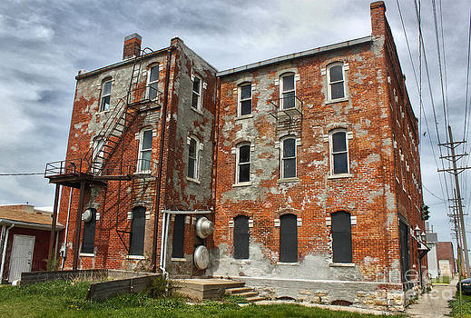 Gregory Dyer - Old Brick Building in downtown Montezuma Iowa - 02