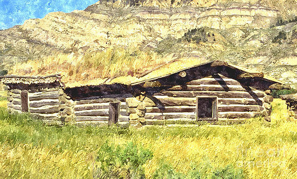 Old Cabin  by Larry Stolle