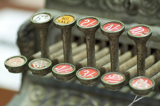 Old Cash Register Keys - Shillings and Pence  by Sally Nevin
