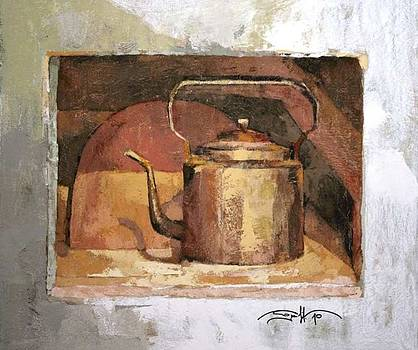 Old copper kettle by Michael Solovyev