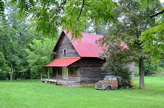 Old Country Cabin by Bob Jackson