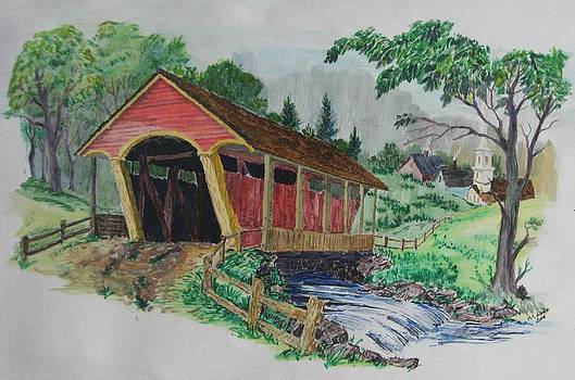 Old Covered Bridge by Michael Race