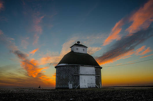 Old Fashioned Corn-Crib Sunrise by Christopher L Nelson