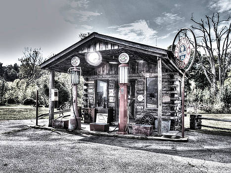 Old Gas Station by Ed Cooper