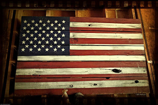 Mick Anderson - Old Glory in Wood