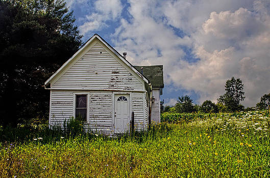 Old house and flowers by Cheryl Cencich