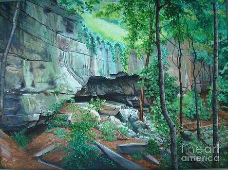 Old Indian Cave by Terrie Leyton