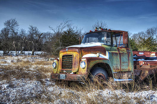 Old International in the Snow by Lisa Moore