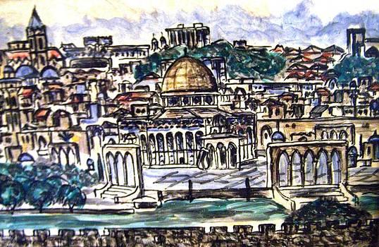 Patricia Taylor - Old Jerusalem Sketch