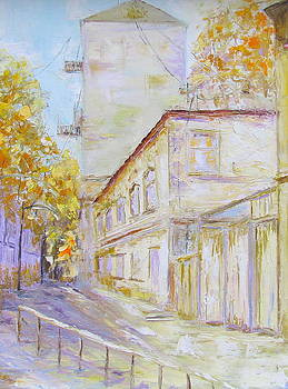 Old Kiev. Old house on a shady street by Elena Nayman