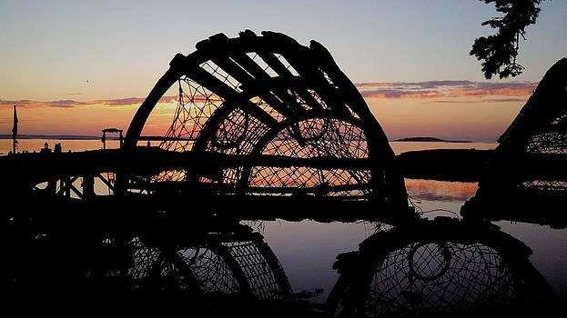 Old Lobster Trap Sunrise by Lisa Moore