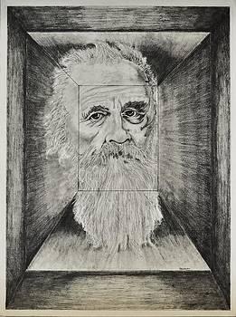 Old Man Head in Box by Glenn Calloway
