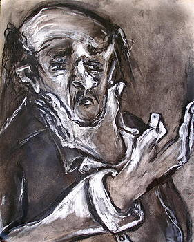Old Man with Hand to Chin by Kenneth Agnello