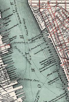 New York old map close up by AR Annahita