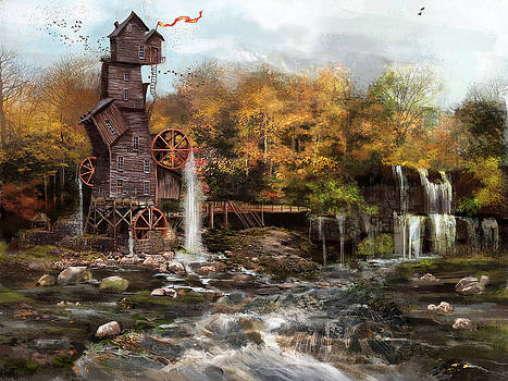 Old mill by Anastasia Michaels