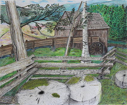 Old Mill Stones by David Cardwell