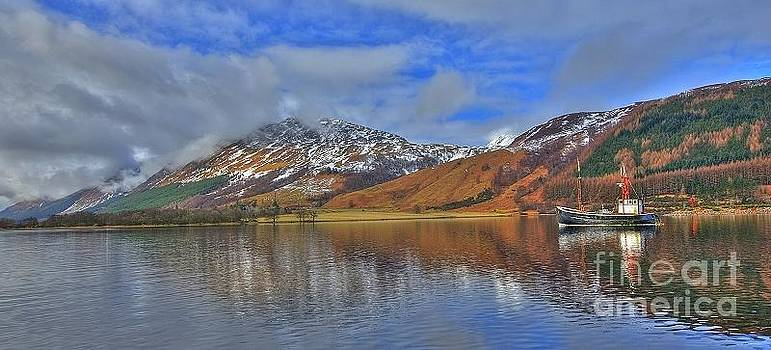 Old Puffer on Loch Lochy Caledonian Canal by John Kelly