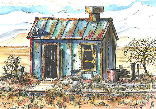Old Railroad Utility Shack by Terry Banderas