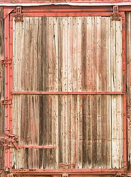 James BO  Insogna - Old Rustic Railroad Train Car Door
