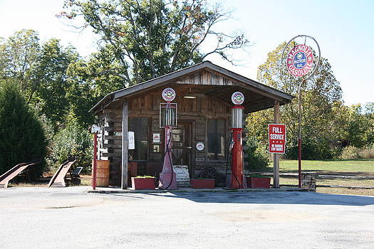 Old Service Station Arkansas by Al Blount