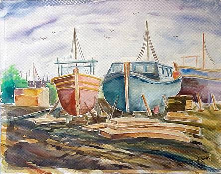Old shipyard by Hashim Khan
