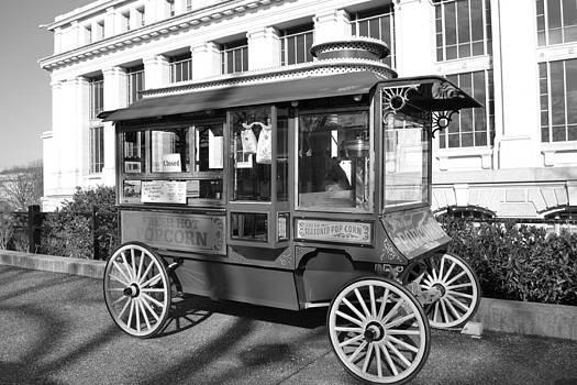 Old Time Popcorn Cart by Jennifer Kelly