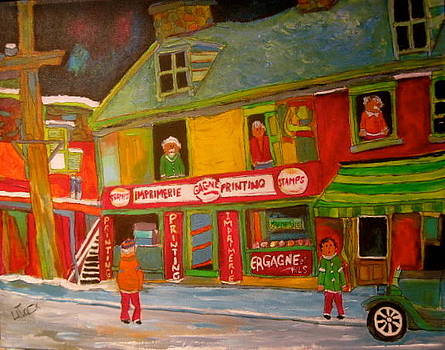 Old Time Print Shop Montreal Memories by Michael Litvack